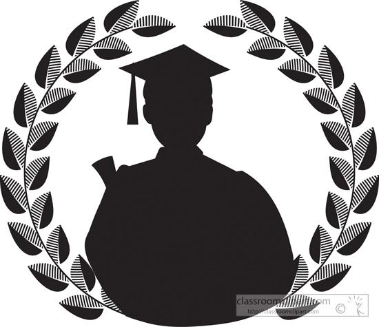 550x475 Graduation Silhouette Clipart