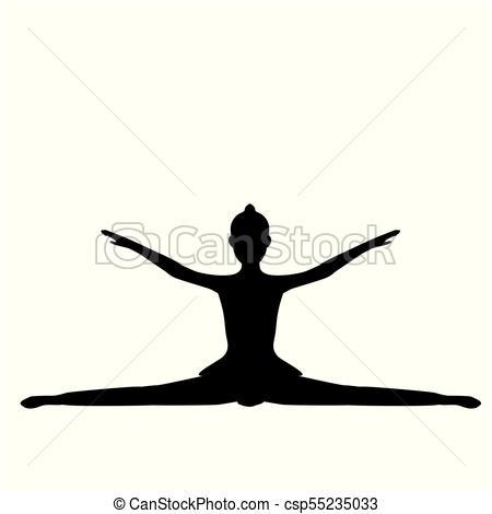 450x470 Girl Gymnastic Sport Silhouette Sportswoman. Vector Vectors
