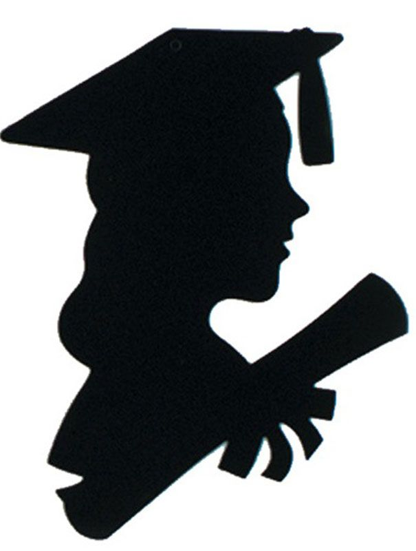 605x800 Girl Graduate Silhouette Get Your Girl Graduate Silhouette 12in