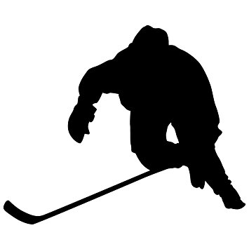 Girl Hockey Player Silhouette