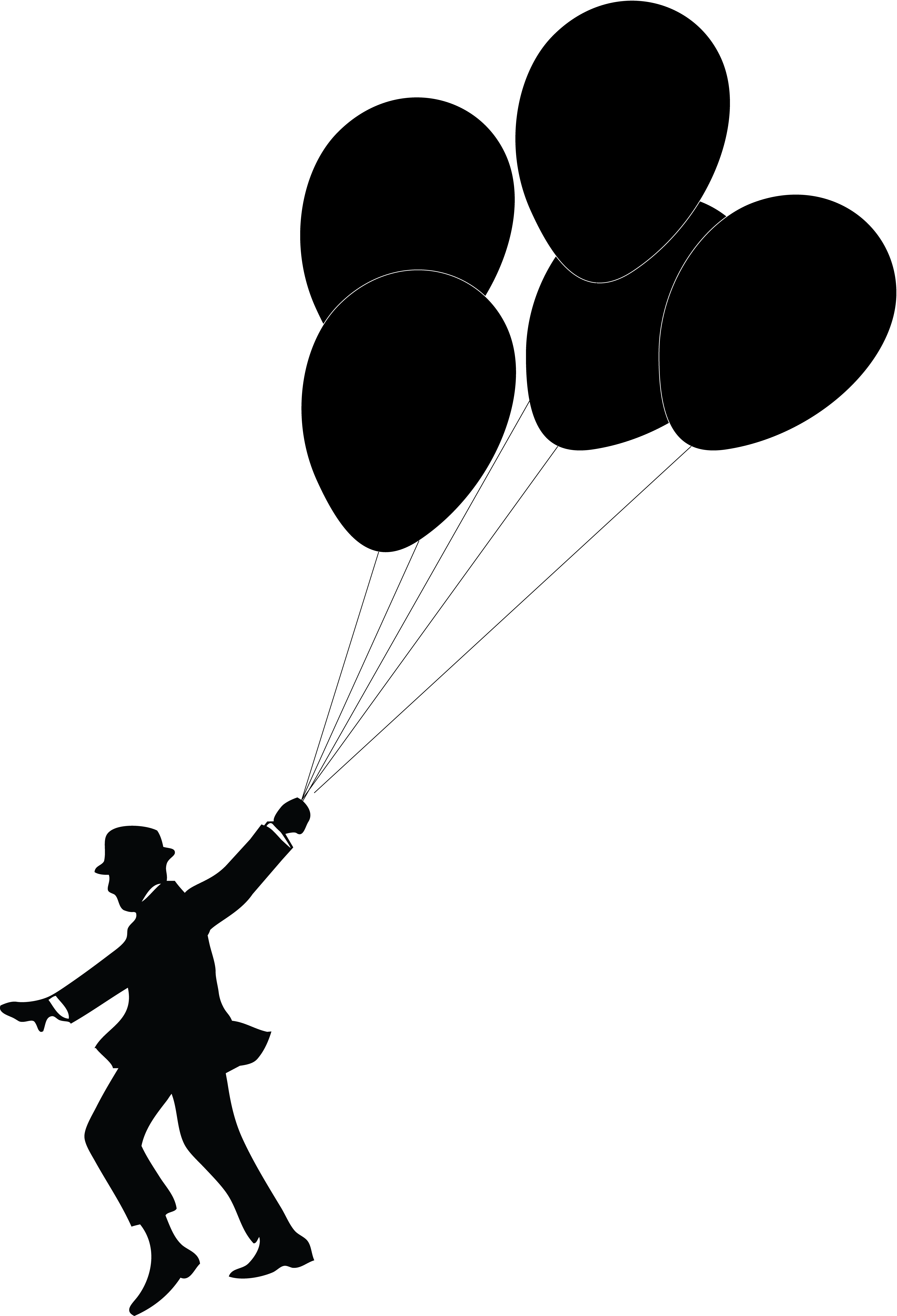 5498x8067 Silhouette Balloon Clipart, Explore Pictures
