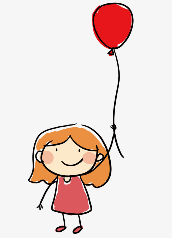 650x900 Girl Holding Balloons, Girl, Happy, Play Png And Vector For Free