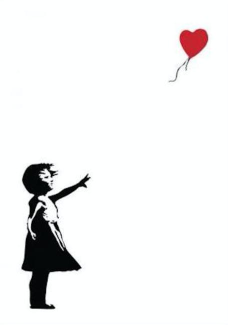 Girl Holding Balloons Silhouette