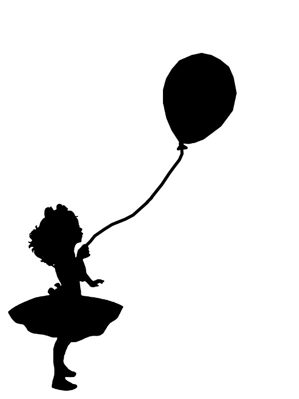 600x800 Girl Holding Balloon Stickers By Amy101 Redbubble