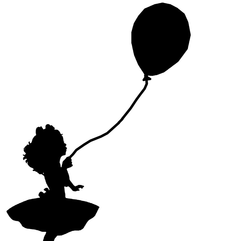 800x800 Girl Holding Balloon Tote Bags By Amy101 Redbubble