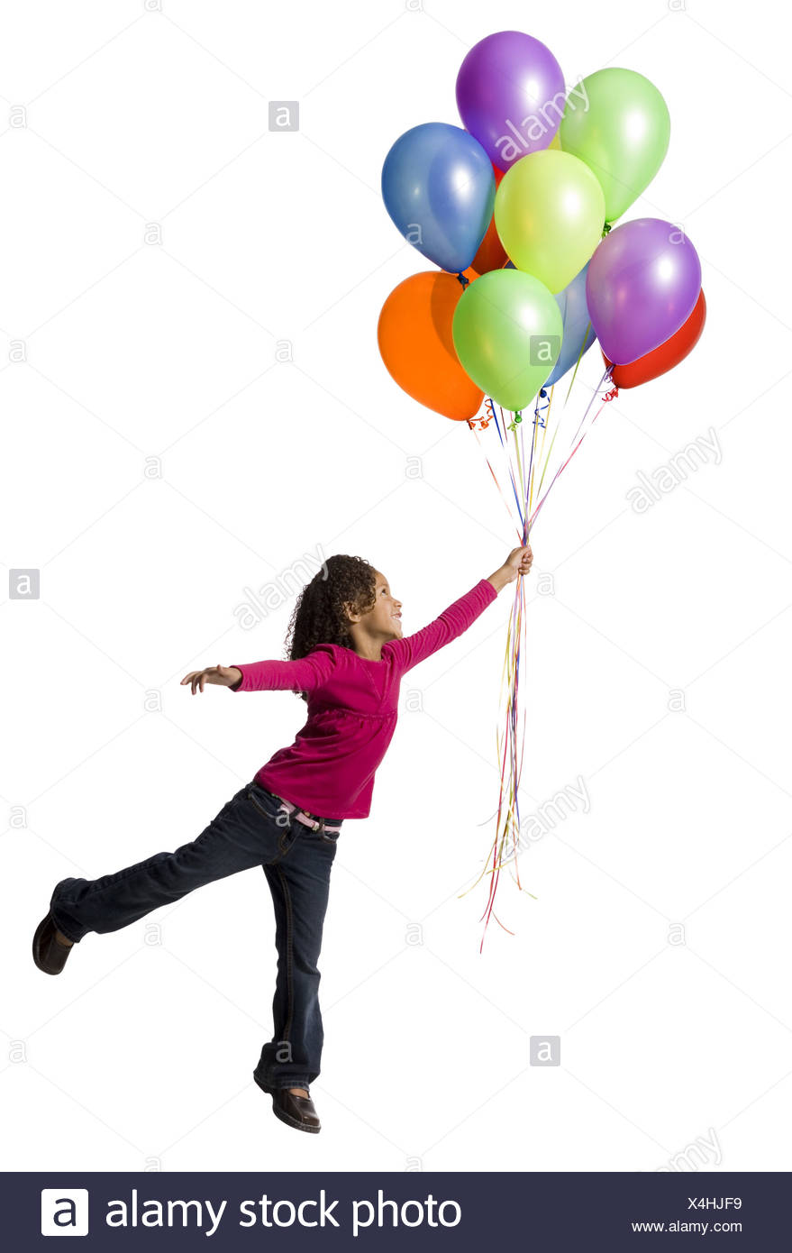 879x1390 Silhouette Young Girl Playing Balloon Stock Photos Amp Silhouette