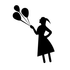 240x240 Flying Balloons Vector Black Photos, Royalty Free Images, Graphics