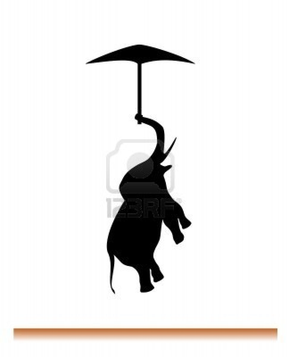 Girl Holding Umbrella Silhouette