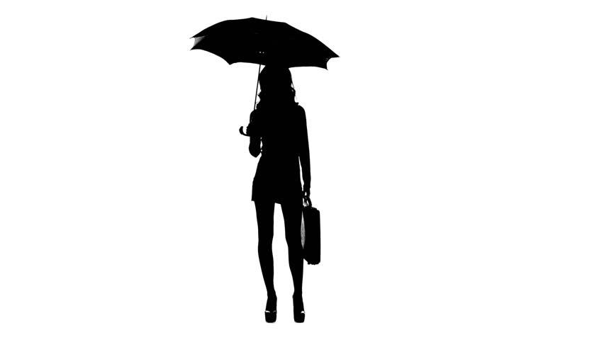 852x480 Umbrella Silhouette