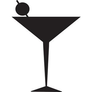 300x300 Martini Glass Cocktail Glass Clip Art Image