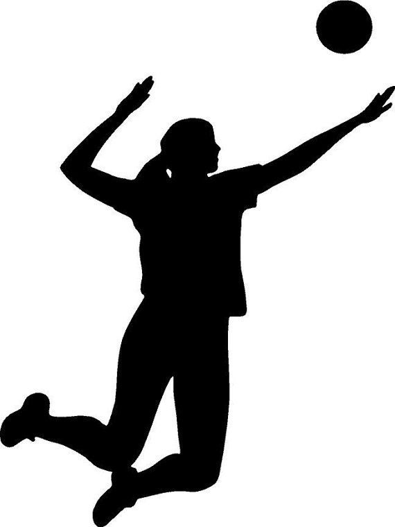 570x760 Showing Volleyball Silhouette Clip Art