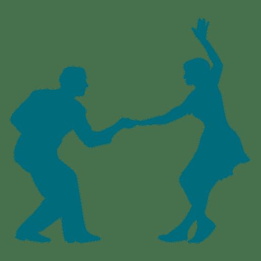 512x512 Swing Dance Couple Silhouette