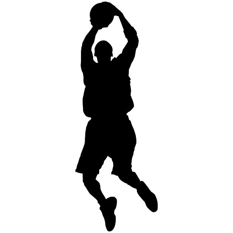 Girl Playing Basketball Silhouette