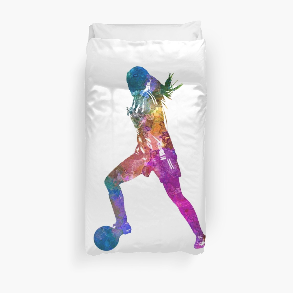 1200x1200 Girl Playing Soccer Football Player Silhouette Duvet Covers By
