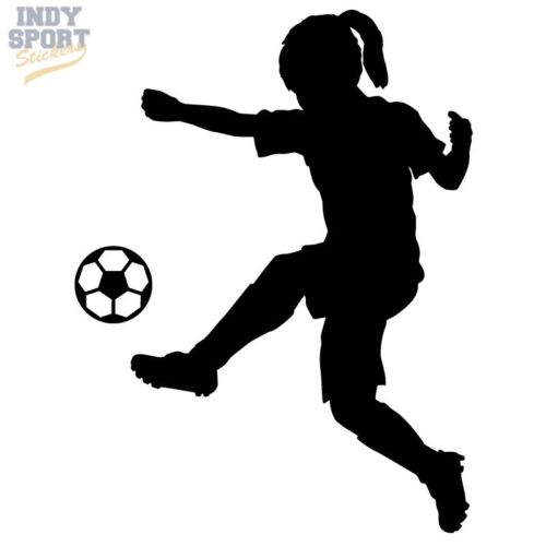 500x500 Silhouette Girl Soccer Player Kicking Ball