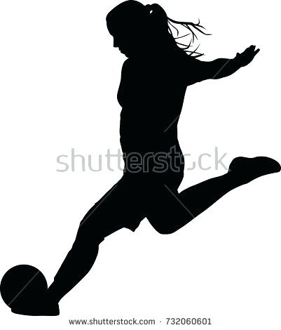 401x470 Soccer Silhouette Football Player Dribbling Clip Art Playing
