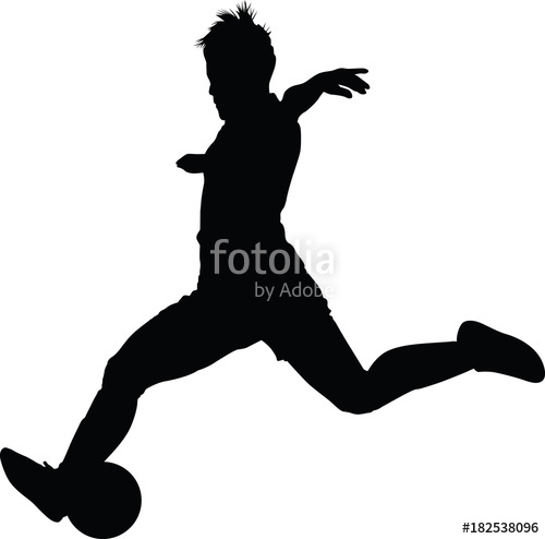 500x494 Soccer Women Silhouette. Girl Play Soccer Stock Image And Royalty