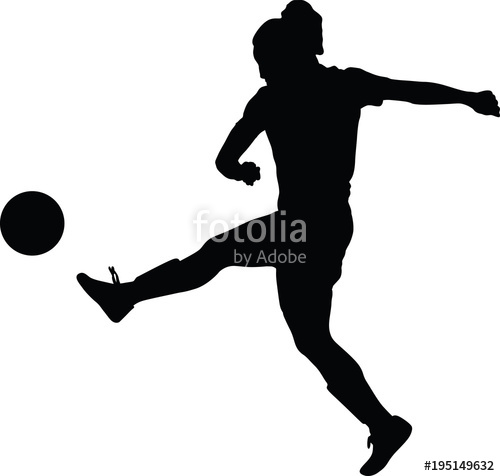 500x476 Soccer Women Silhouette. Girl Player Stock Image And Royalty Free