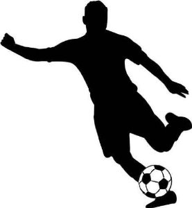 277x300 Girl Soccer Player Silhouette