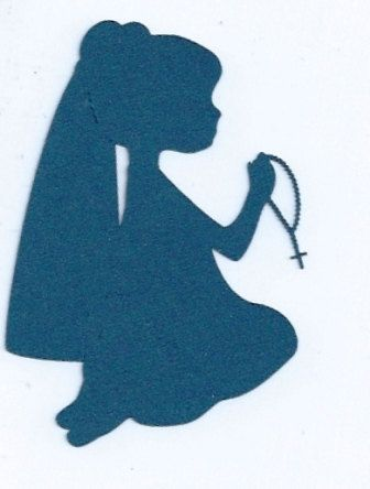 336x444 Little Girl Praying The Rosary Silhouette By Hilemanhouse On Etsy