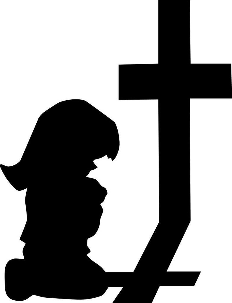 785x1024 Little Girl Praying Religious Decal North 49 Decals