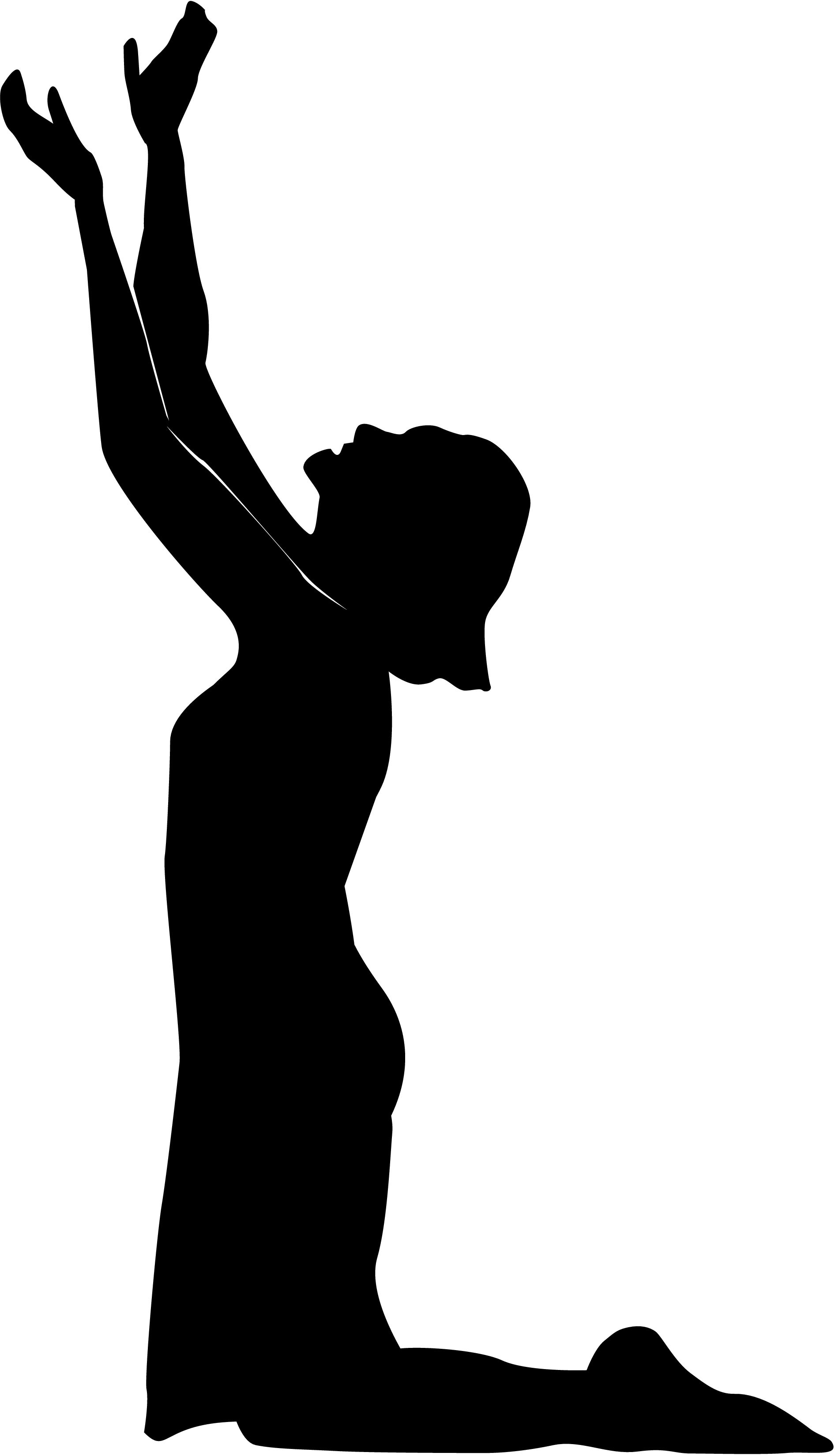 Girl Reaching Up Silhouette