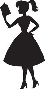 153x300 Girl Reading A Book Silhouette Clipart Drawingartinspiration