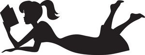 300x115 Girl reading silhouette Woman Silhouette Laying Down