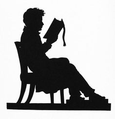 236x243 Antique Images Free Clip Art Of Antique Silhouette Girl Reading