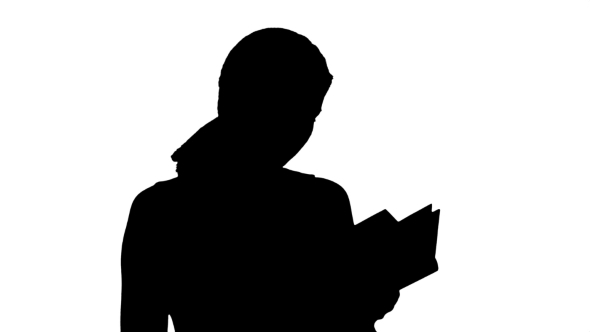 590x332 Silhouette Young Beautiful Girl Reading A Book On By Fancystudio