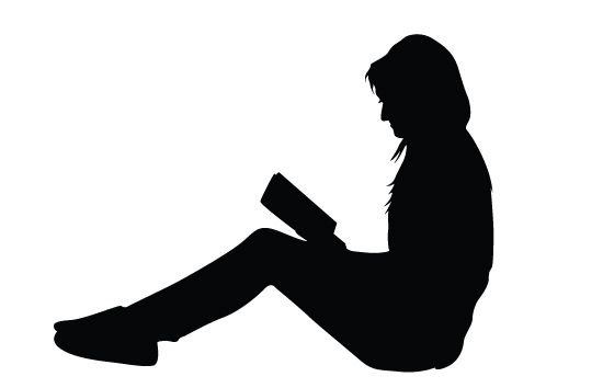 550x354 Women Reading Books Silhouette Vector Vector Free Download