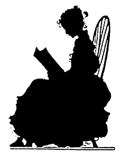 Girl Reading Silhouette