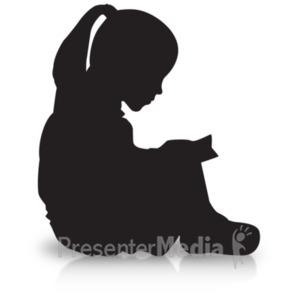 300x300 Boy Reading Silhouette