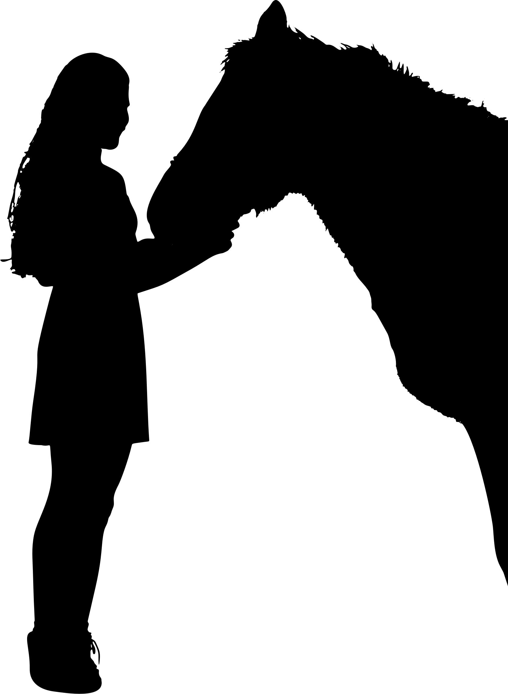 1668x2278 Girl And Horse Silhouette 2 Icons Png