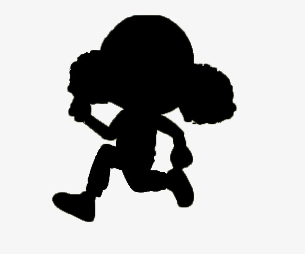 630x525 Running Girl Black Silhouettes, Black, Girl, Sketch Png Image