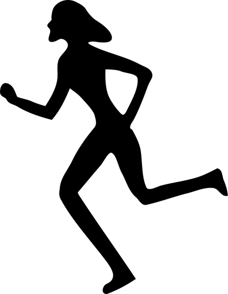 464x600 Woman Running Free Vector In Open Office Drawing Svg ( Svg