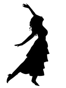 225x300 Dancing Girl Silhouette Free Images