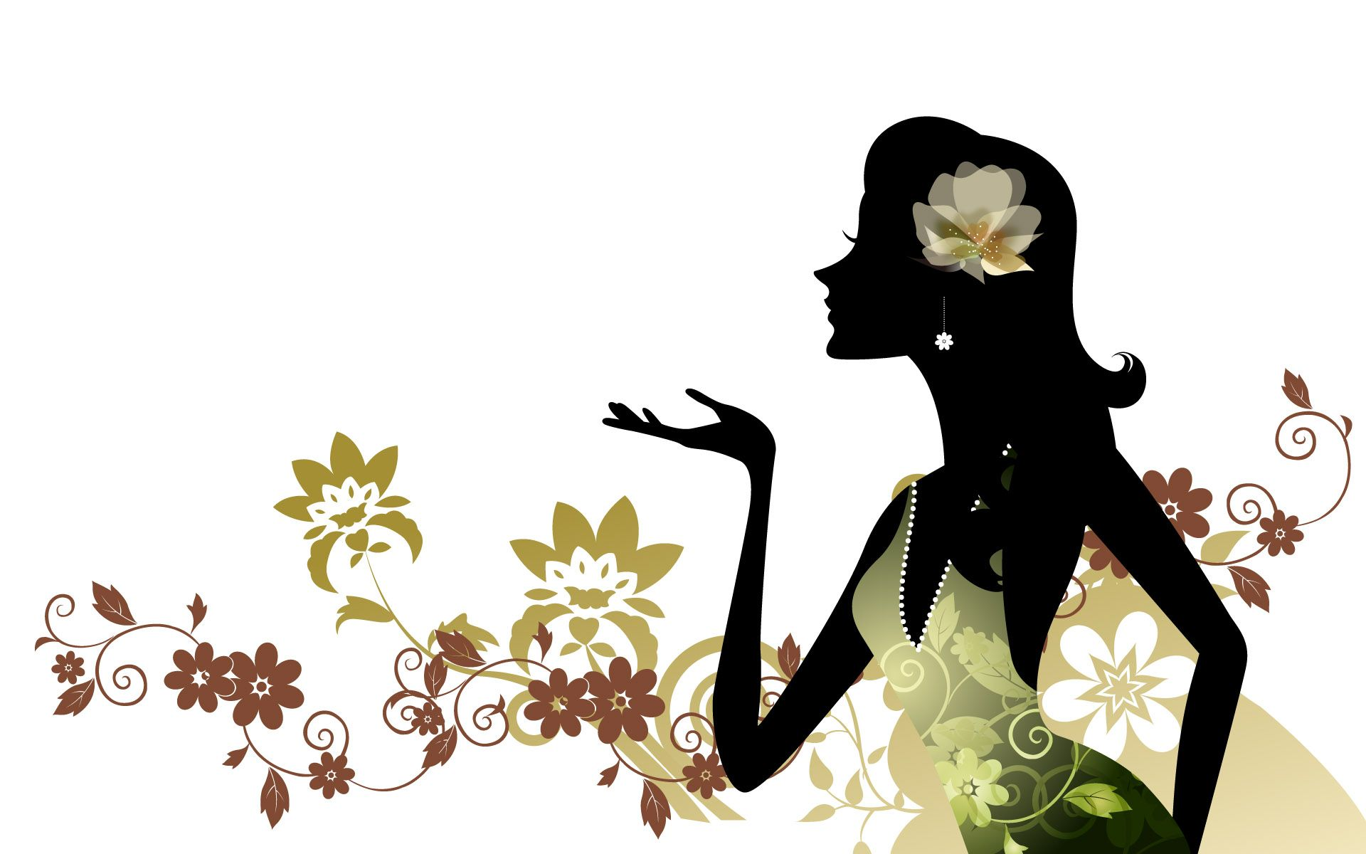 1920x1200 Girl Silhouette Art Girls Silhouettes