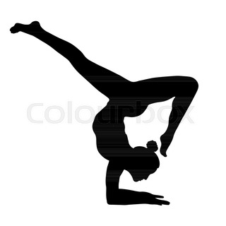 320x320 Outline Figure Woman Handstand On Transparent Background