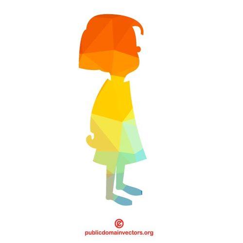 500x500 Silhouette Of A Little Girl Public Domain Vectors