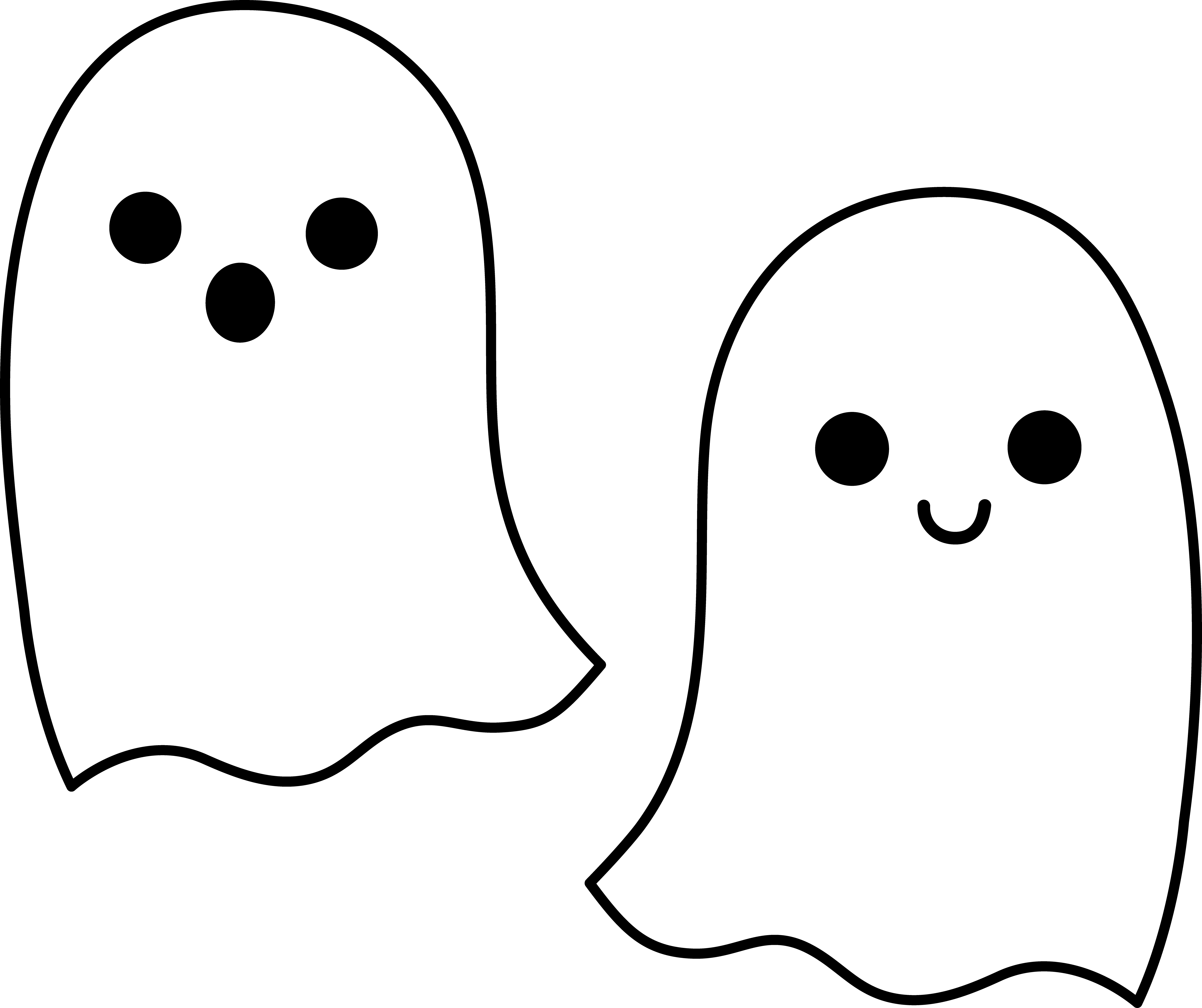 5942x4982 Free Cute Ghost Clipart, Hanslodge Clip Art Collection