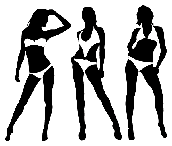 600x510 Girls Silhouette Clipart Collection