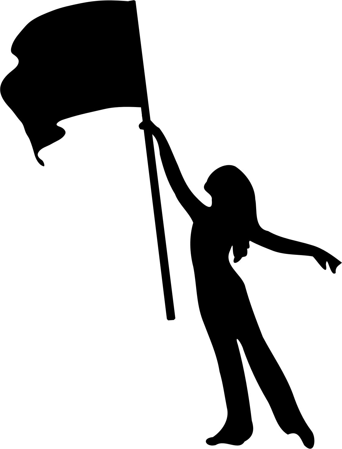 girl silhouette pictures at getdrawings com free for personal use rh getdrawings com color guard clipart flag