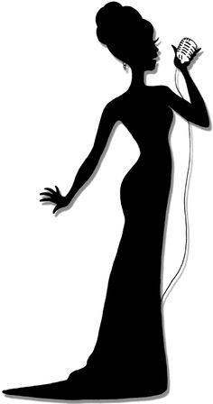 236x448 Imagenes Diva Girl Silhouette Clip Art Singer Clipart Image