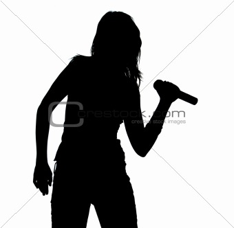 340x332 Image 13442 Silhouette Of Singing Girl From Crestock Stock Photos