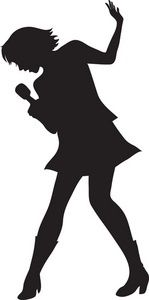 149x300 Female Singers Silhouette Set Female Singers, Silhouettes