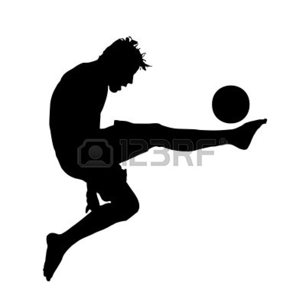 1200x1200 Vector Football (Soccer) Player Silhouette Magic Chef Mini Fridge