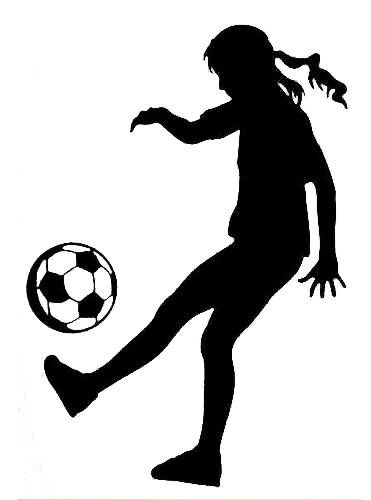 girl soccer silhouette at getdrawings com free for personal use rh getdrawings com girl playing soccer clipart girl kicking soccer ball clipart