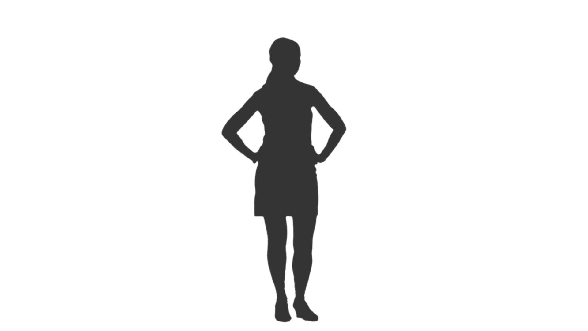 1920x1080 Silhouette Of A Girl Standing And Waiting Something. Full Hd
