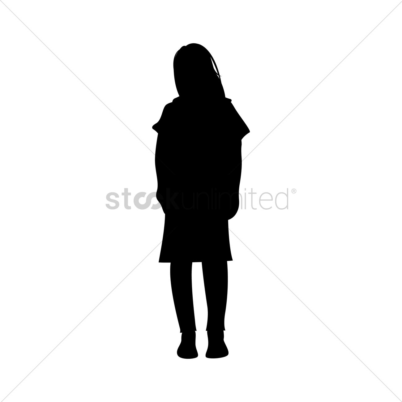 1300x1300 Silhouette Of Woman Standing Vector Image